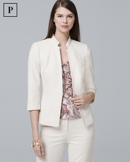Petite Honey Dobby Textured Suit Jacket by Whbm