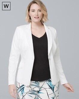Plus Single-Button Blazer Jacket | Tuggl