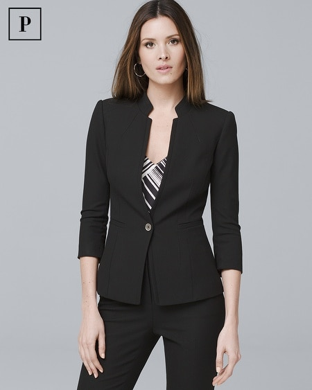 Petite Honey Dobby Textured Suit Jacket