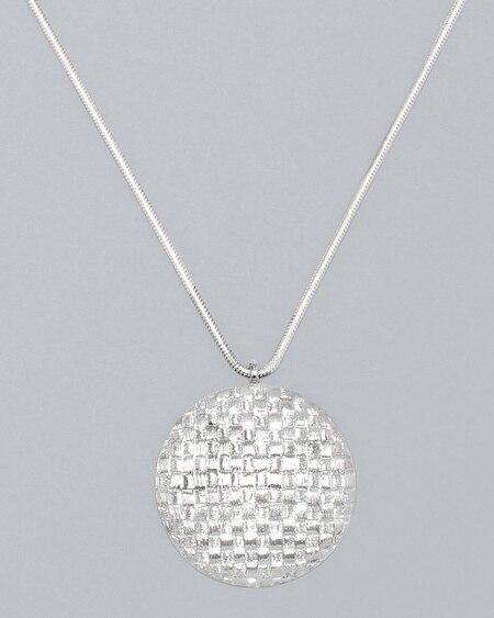 Navy Lace Sheath Necklace