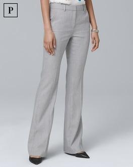 Petite Linen-Blend Flare Pants | Tuggl