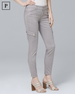 Petite Ankle Zip Cargo Jeans by Whbm