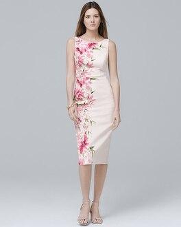 White House Black Market Sleeveless Floral-Print Sheath Dress at White House | Black Market in Sherman Oaks, CA | Tuggl