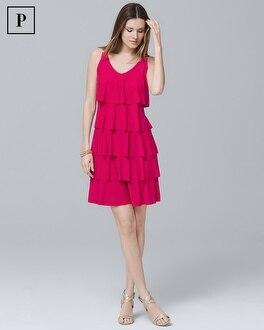 Petite Tiered Ruffle Knit Dress by Whbm