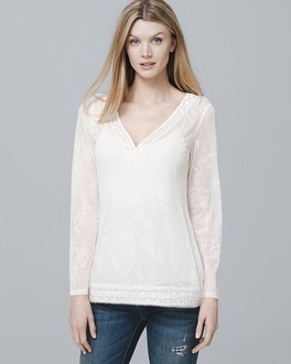 Embroidered Mesh Tunic by Whbm