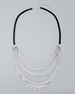 Multi Chain & Leather Necklace by Whbm