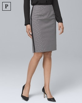 Petite Geo Pencil Skirt | Tuggl