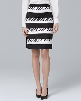 Mixed-Stripe Pencil Skirt | Tuggl