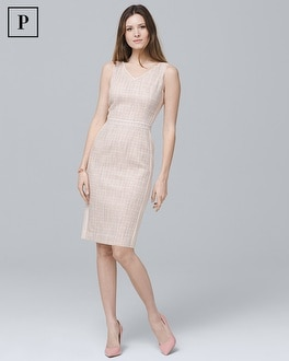 Petite Tweed Sheath Dress | Tuggl