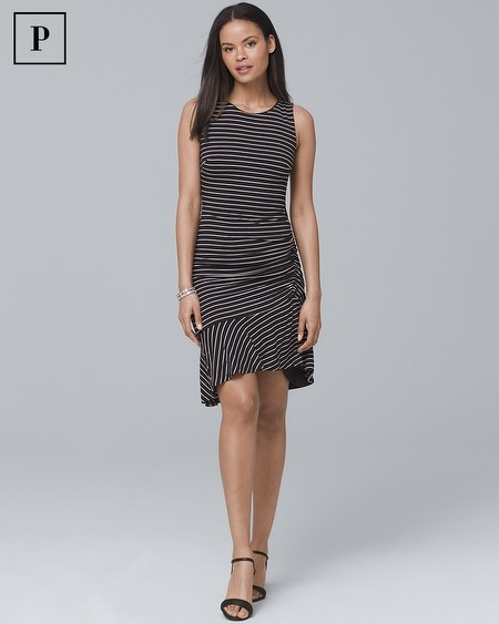 Petite Ruched-Side Sheath Dress