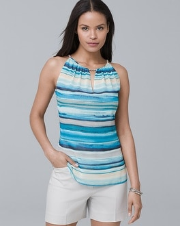 Washed-Stripe Shell | Tuggl