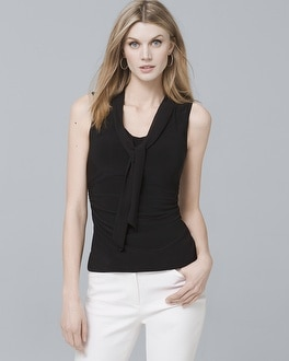 Sleeveless Tie-Neck Blouse | Tuggl