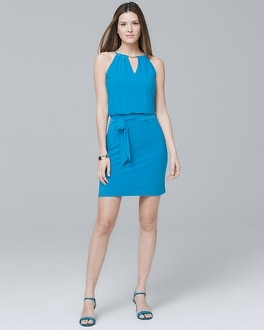 Sleeveless Knit Shift Dress | Tuggl
