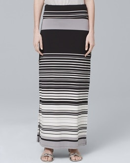 Convertible Stripe Maxi Skirt | Tuggl
