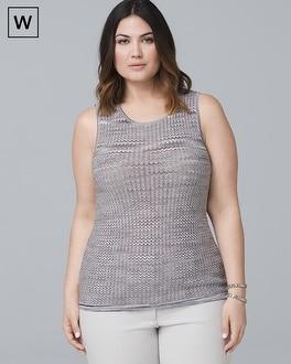 Plus Wavy Sweater Tank by Whbm