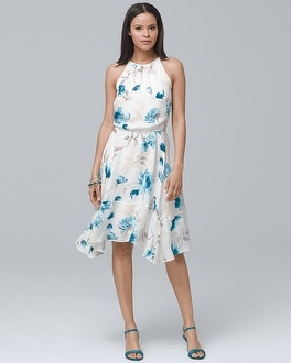 Soft Floral Blouson Dress | Tuggl