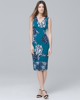 Floral Knit Sheath Dress | Tuggl