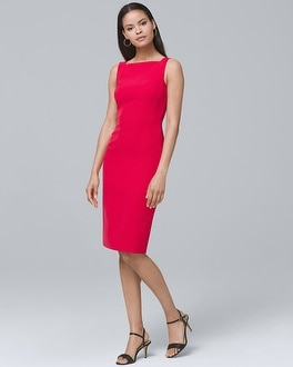 Square-Neck Sheath Dress | Tuggl