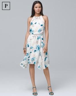 Petite Soft Floral Blouson Dress by Whbm