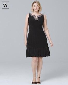 Plus Embellished Pleat-Hem Dress | Tuggl