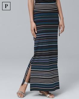 Petite Convertible Stripe Maxi Skirt | Tuggl