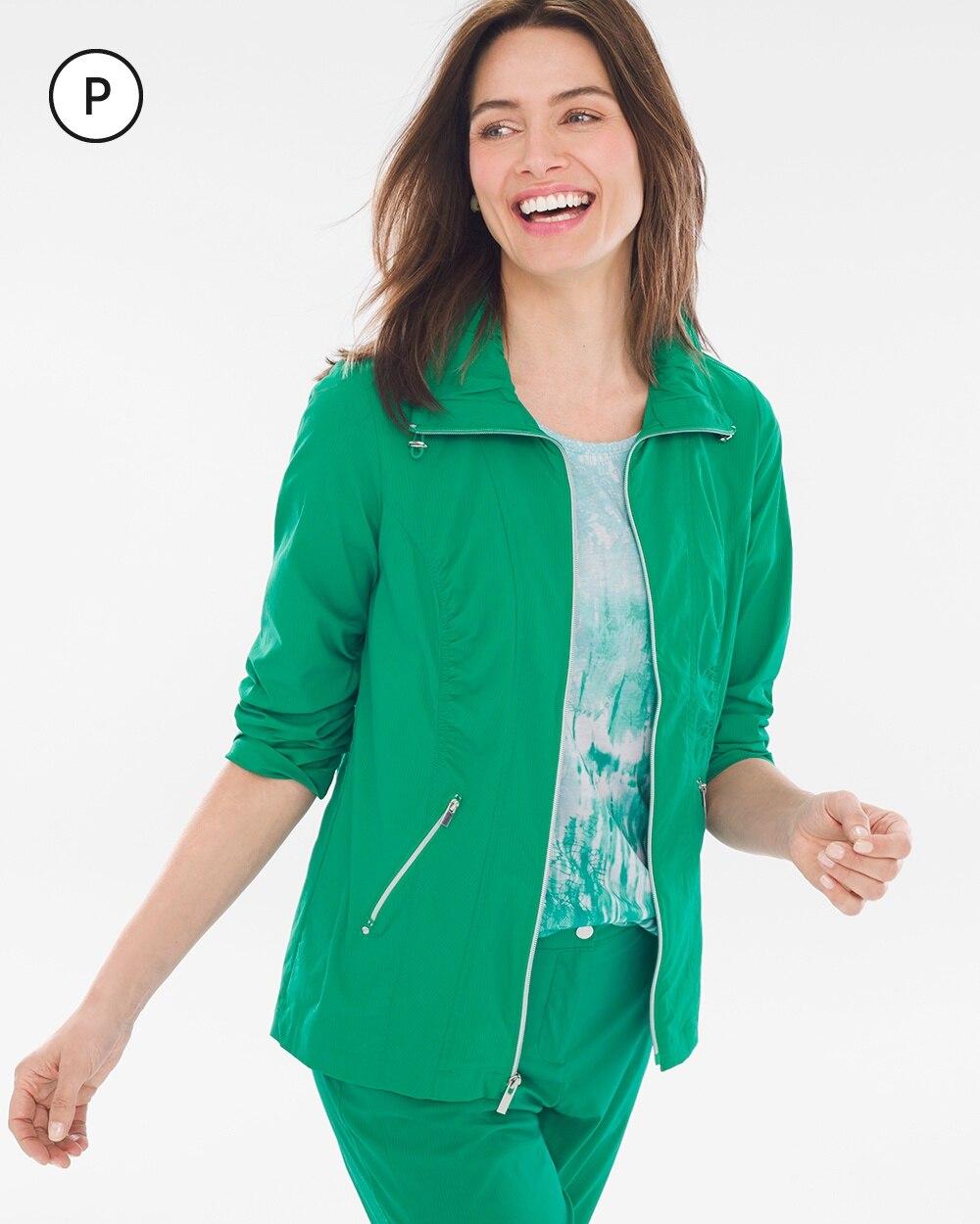 Zenergy Petite Neema Shadow-Stripe Jacket