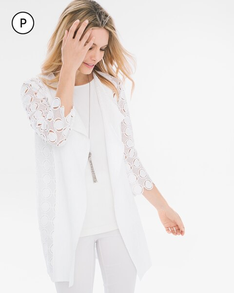 Travelers Collection Petite Circle Lace Jacket