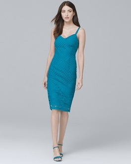 Sleeveless Lace Sheath Dress | Tuggl