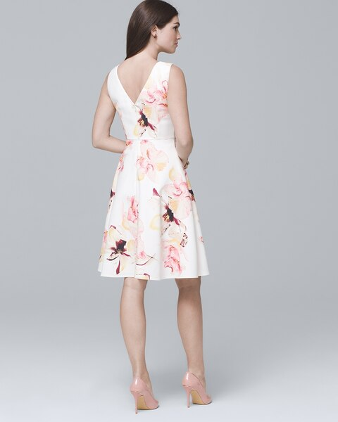 d9b3e43c325 Return to thumbnail image selection Exploded Floral Fit-and-Flare Dress
