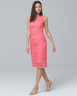 Lace Sheath Dress | Tuggl