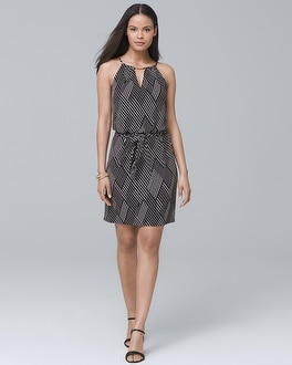 Sleeveless Geo Print Knit Shift Dress by Whbm