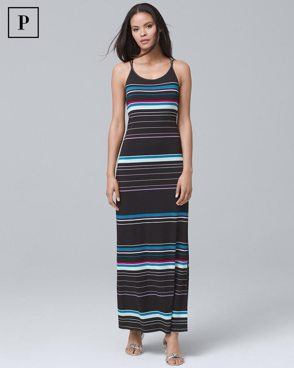 a4993223936 Petite Striped Maxi Dress - White House Black Market