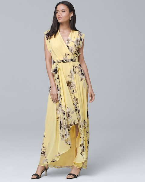 65627ca2685 Return to thumbnail image selection Floral High-Low Maxi Dress video  preview image