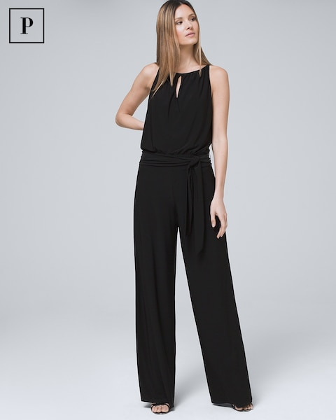 get cheap top-rated authentic low price Petite Wide-Leg Black Jumpsuit
