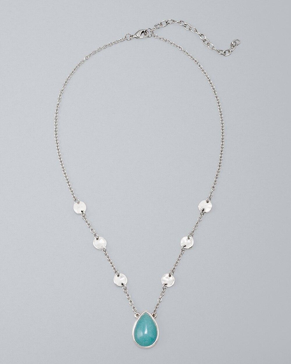 9c8de7634375a7 Jade Teardrop Pendant Necklace - White House Black Market