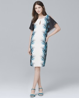 Palm-Print Shift Dress | Tuggl