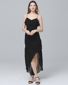 Black Pleated Midi Dress | Tuggl