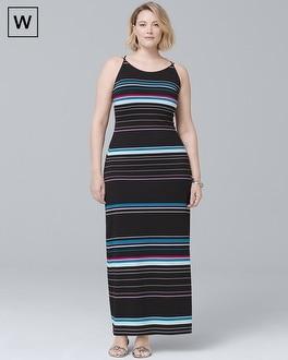Plus Striped Maxi Dress | Tuggl