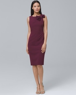 Bow-Neck Sheath Dress | Tuggl