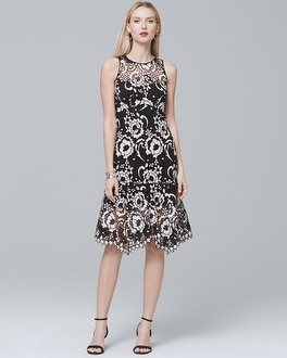 Illusion Sheath Dress | Tuggl