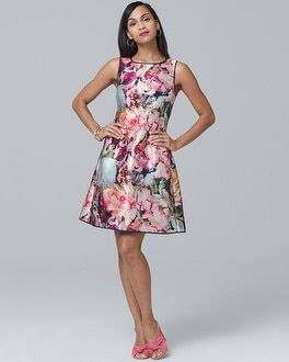 Reversible Sleeveless Satin Fit And Flare Dress by Whbm