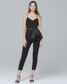 Satin Bow-Detail Jumpsuit | Tuggl