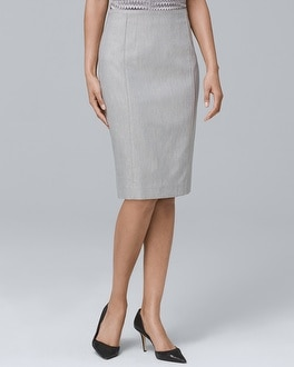 Linen Blend Pencil Skirt by Whbm