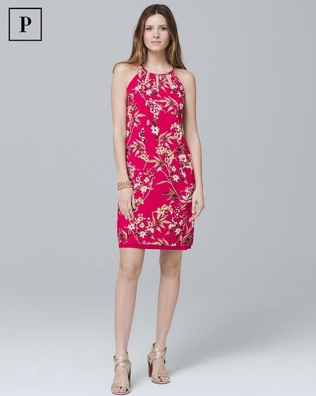 Petite Reversible Floral Woven Shift Dress