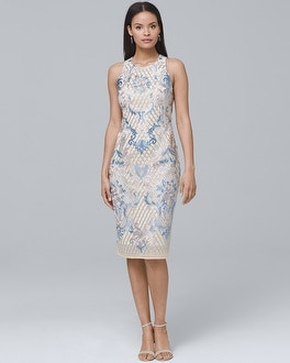 30ce891c Shoptagr | Laundry By Shelli Segal Embroidered Sheath Dress by Whbm