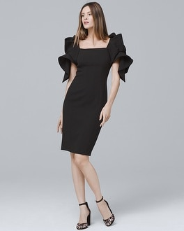 Origami-Sleeve Dress | Tuggl