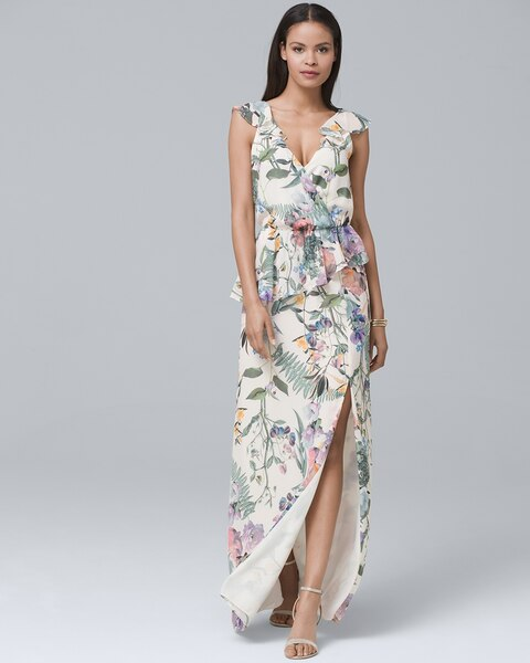 55f733bbba4 Return to thumbnail image selection Parker Black Floral-Print Maxi Dress  video preview image
