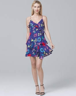 Floral-Print Tiered Dress | Tuggl