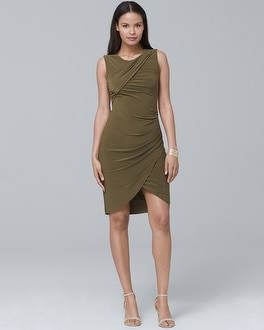 Draped Knit Dress | Tuggl
