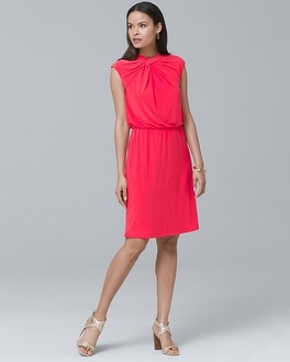 Gathered Blouson Dress | Tuggl